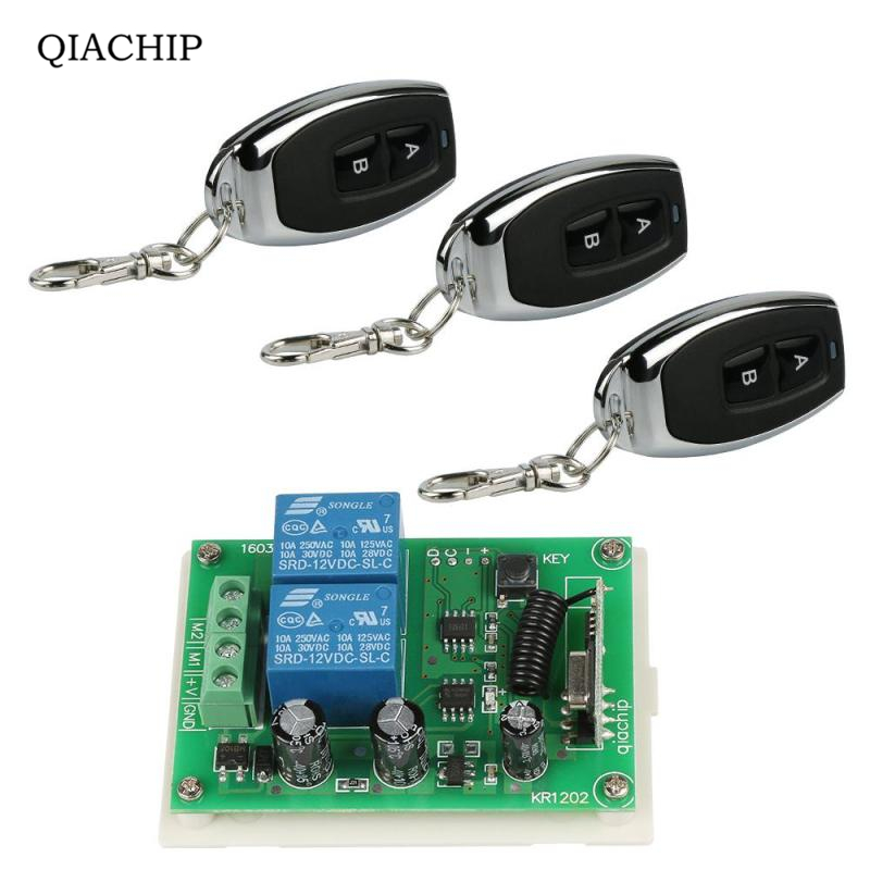 433Mhz Wireless Remote Control Switch DC 12V 2CH RF Relay Receiver Module and RF Transmitter 433 Mhz Remote Controls Diy dc 12v 1ch 433 mhz universal wireless remote control switch rf relay receiver module and transmitter electronic lock control diy
