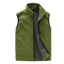 Winter Men Hiking Vest Warm Fleece Vest Trekking Hiking Camping Waistcoat Plus Size Men Sportswear Coat Hunter's Fishing Vests