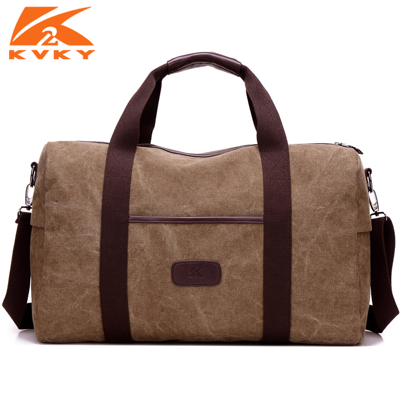 KVKY Large Capacity Men Travel Bags Canvas Lugguage Bag Male Shoulder Bag Man Tote Handbag Crossbody Bags Bolsa Masculina men handbags women canvas shoulder messenger bags large capacity travel bag retro ladies handbag straps bolsa masculina vintage
