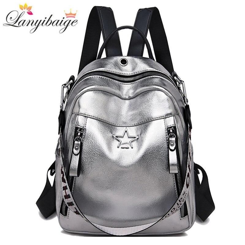 3-in-1 Multifunction Women Backpacks Fashion School Bags For Teenage Girls Large Capacity Ladies Traveling Backpack Shoulder Bag