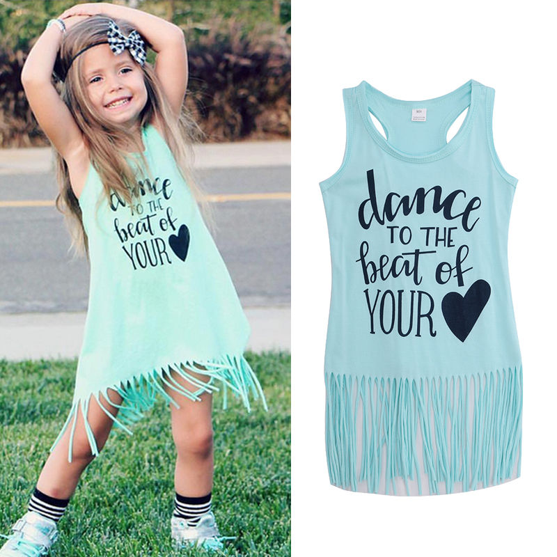 sleeveless baby girls dress holiday beach casual brief