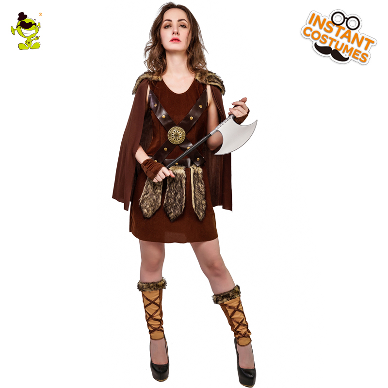 QLQ Halloween Woman Viking Pirate Costume Performance Christmas Party Cosplay Cool Deluxe Pirate Dress Costumes