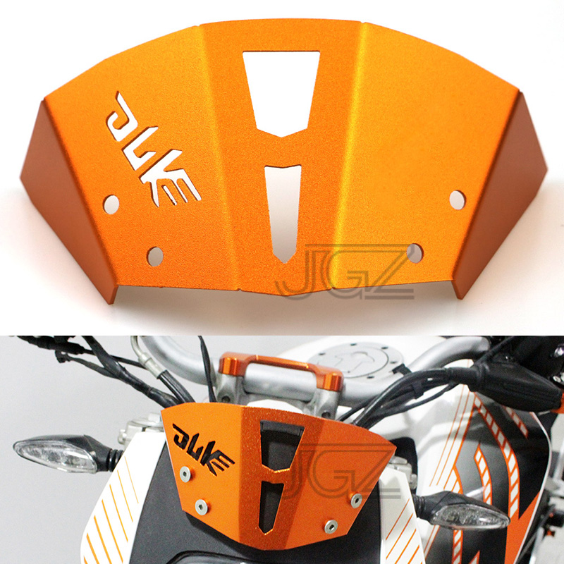 Orange Motorcycle CNC Aluminum Windshield Front Air Reflector Motorbike Accessories for KTM Duke 125 200 390 2013 2014 2015 2016 for ktm duke 390 rc390 2013 2017 duke 200 rc200 2014 2016 duke 200 rc125 2014 2017 motorcycle cnc aluminum brake clutch levers