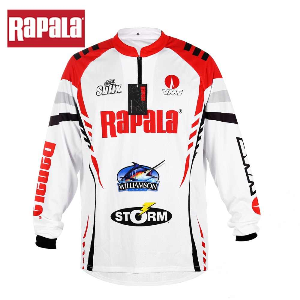 New Style Rapala Brand RAPPW11 Fishing Clothing Vests Quick-Drying Anti-UV Fishing Shirt Sports Cycling Clothes Long Sleeve
