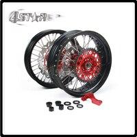 Motorcycle 3 5 4 2 17 Wheel Rim Hubs Set For HONDA CR125 CR250 CRF250R CRF450R