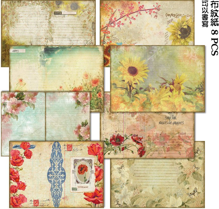 Back To Search Resultshome & Garden Arts,crafts & Sewing Zfparty Vintage Flower Design Background Paper Stickers For Scrapbooking Diy Projects/photo Album/card Making Crafts