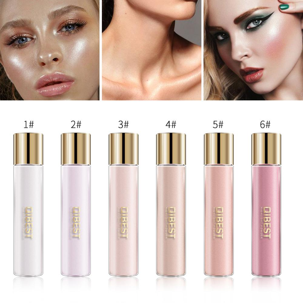 Qibest Makeup Highlighter Grooming Face Brighten Contouring Cosmetics Eye Shadow Illuminator Professional Face Glow Cosmetics image