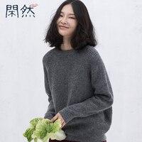 XianRan Femmes Chandails Lâche Occasionnel Plus La Taille Laine De Fourrure De Lapin Pull Chandails de Haute Qualité 2017