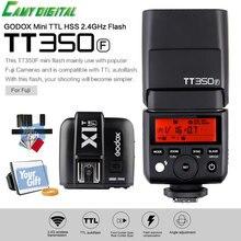 Godox Mini Speedlite TTL TT350F High Speed 1/8000s GN36 2.4G wireless X System+Transmitter Trigger X1T-F+Gift Kit For Fuji