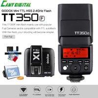 Godox Mini Speedlite TTL TT350F Hoge Snelheid 1/8000 s GN36 2.4G draadloze X Systeem + Zender Trigger X1T-F + Gift Kit Voor Fuji