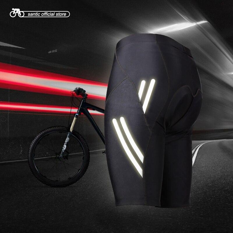 цена на Santic Men Cycling Padded Shorts Coolmax 4D Pad Shockproof SANTIC R-FEEL Anti-pilling SANTIC AIRFREE Biking Riding Short KS007