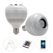 Altavoces de Audio de Reproducción de Música Lámpara de Luz RGB 6 W Wireless Bluetooth Music LED Bombilla