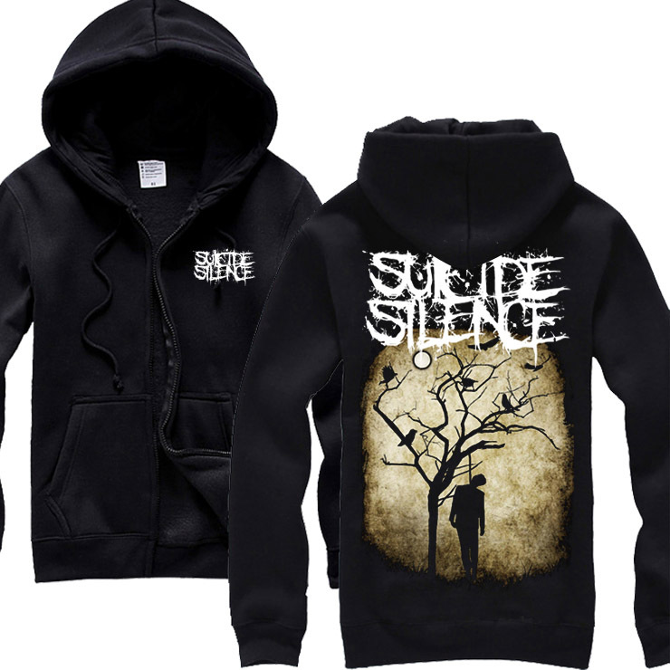 suicide silence band Metalcore heavy rock music popular hoodie