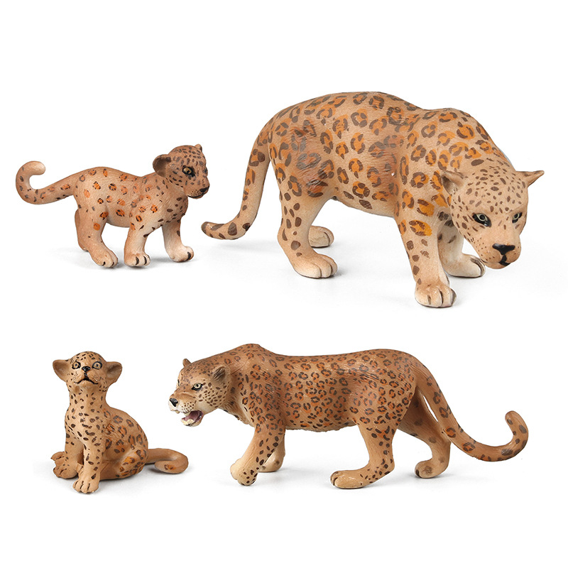 4 Teile/satz Verschiedene Form Afrikanische Leopard Wald Wilden Tier Modell Action Figure Pvc Solide Sammlung Kinder Spielzeug Geschenk Für Kinder Zur Verbesserung Der Durchblutung