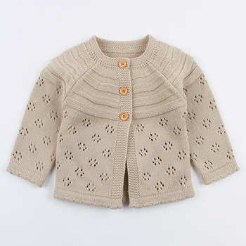 Fashion Spring Baby Girl Sweater Cardigans Autumn Long Sleeve Newborn Knitted Jackets Toddler Infant Knitwear Coats Kids Clothes