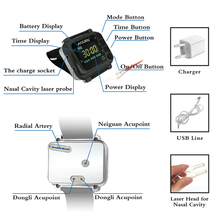 650nm Laser Physiotherapy Wrist Laser Watch Diode LLLT Diabetes Hypertension Treatment Diabetic Watch Laser Rhinitis Therapy недорого