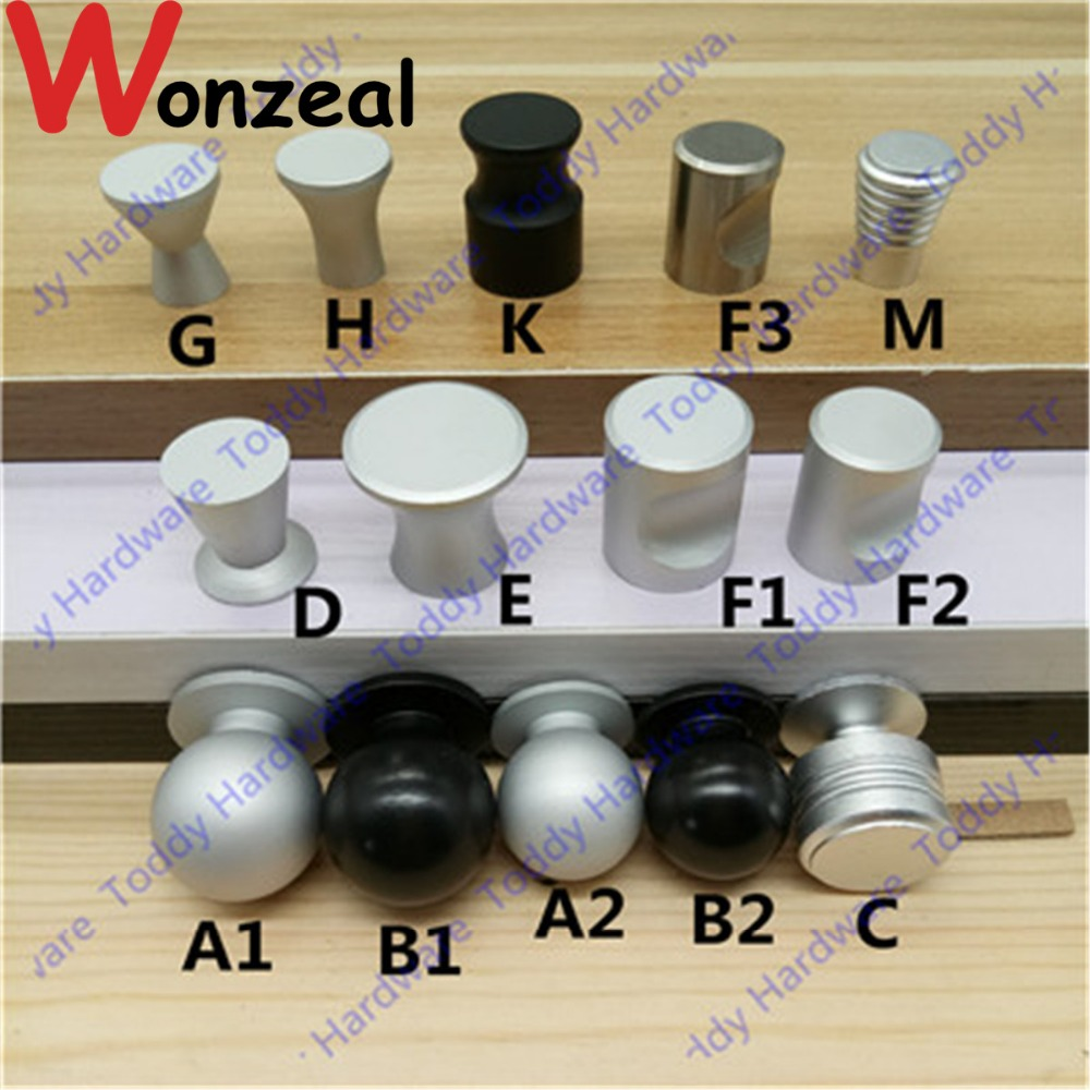 Furniture Handle Space Aluminum Knob Dia. 16/17/18/20/22/25mm Single hole sand silver color Cabinet Door Kitchen knob pulls the aluminum knob wide 15mmx high shaft hole flower 6mm 17mm