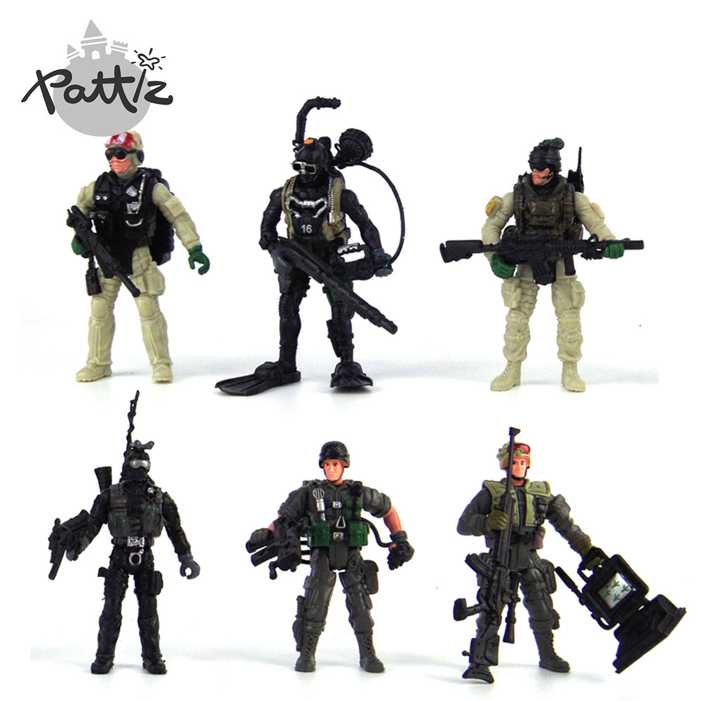 Toy Soldiers For Boys : Pattiz plastic army soldiers toys for boys small