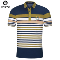 HAOYU Brand Striped Polo Shirt Men's Slim Turn-down Collar Polos Hombre 100% Cotton Short Sleeve Polo Shirts For Men New Summer