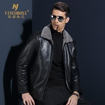 Top Quality Men Geniune Sheepskin Jacket Male Wool Warm Jacket Men ItalianDesign Brand Coat Winter Cashmere Coat For Men XXXL