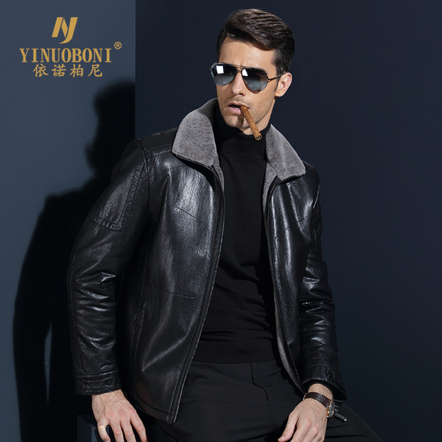 Top Quality Men Geniune Sheepskin Jacket Male Wool Warm Jacket Men ItalianDesign Brand Coat Winter Cashmere Coat For Men XXXL