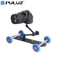 PULUZ YLG0105A Mini Escala Rolamento Deslizante Pista Câmera Dolly Carro Magia Braço Mesa Móvel para Câmeras Canon/Nikon/ câmera DSLR