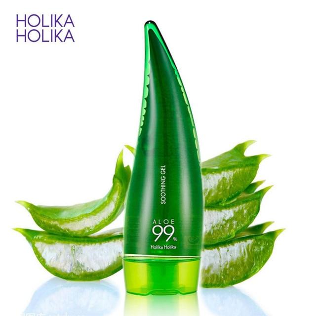 HOLIKA HOLIKA 99% אלוורה מרגיע ג 'ל אלוורה ג' ל עור טיפול להסיר אקנה לחות יום קרם קרם הגנה אלוורה ג 'ל 55 ml