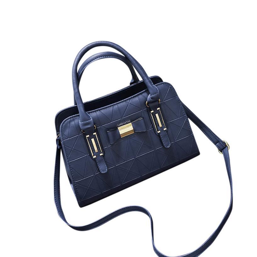 Pelle Di In Tote Donna Progettista Spalla Lusso Casuale Delle blue red Da Black Borsa Signore Grande Crossbody Borse Bag Bowknot Xiniu Sacchetto A4gw8Z