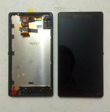 5″ For Sony Xperia ZL L35h C6503  New White Full LCD Display Screen Panel + Touch Screen Digitizer Glass Assembly + Frame Bezel