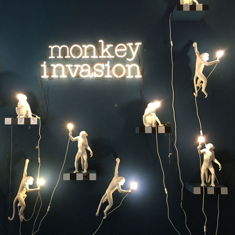 Image 5 - Nordic designer Monkey Table Lamp personality simple study bar industrial retro wind artist desk table light-in LED Table Lamps from Lights & Lighting