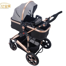 YIBAOLAI Baby stroller high landscape newborn folding four wheel shock baby hand push children baby cart Five colors