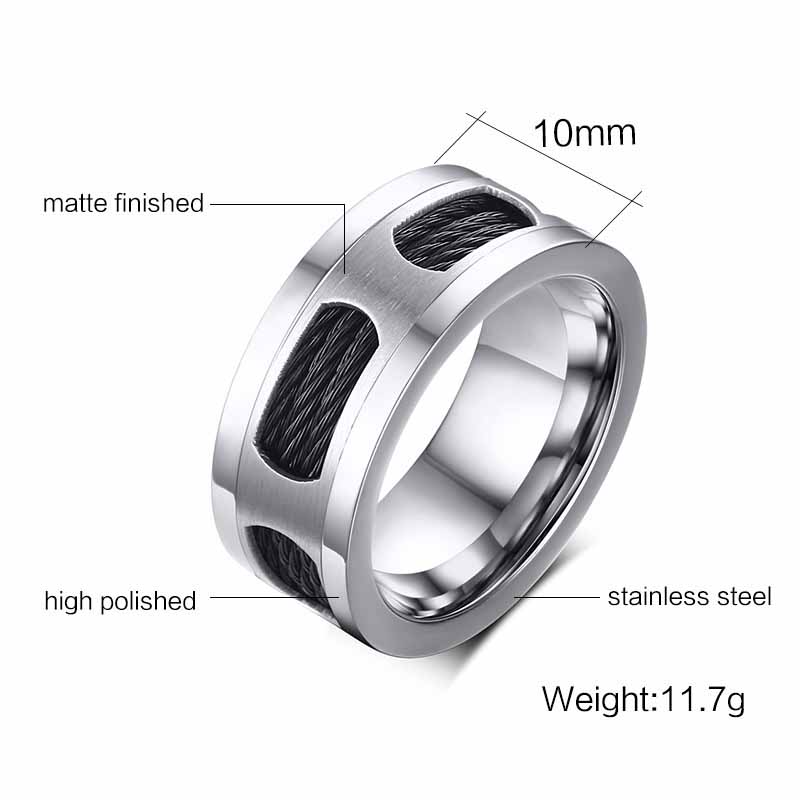 Eamior Vintage Silver Polish Men Ring Beautiful Accessory Handmade Decorate Wedding Band Jewelry For S High Quality In Rings From