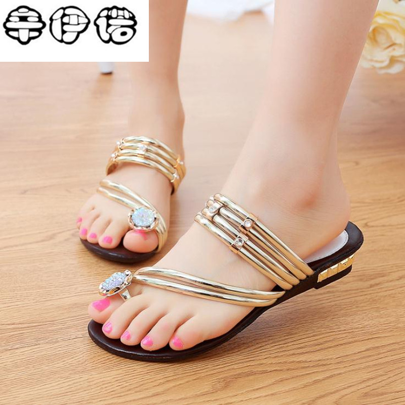 2018 Summer Hot Sale gold silver Women sandals fashion Rhinestone women beach sandals shoes new sandals free shipping 2016 spring and summer free shipping red new fashion design shoes african women print rt 3