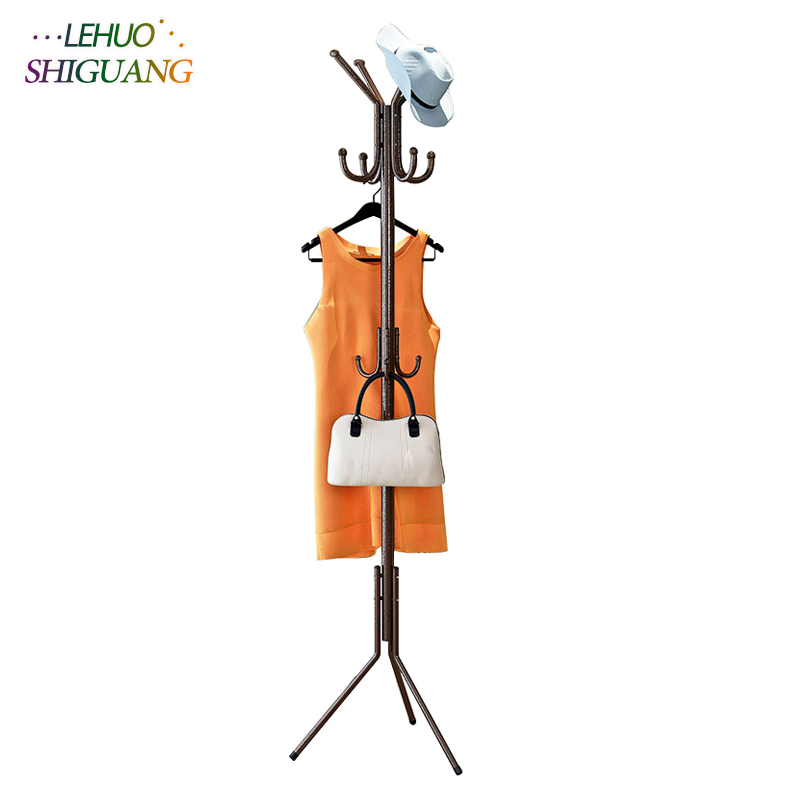 Fashion Coat Rack Stainless steel hat stand clothing rack living room Furniture Hanging storage organization clothes hanger