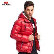 MALIDINU 2019 Men Down Jacket 70%White Duck Winter Coat Thick Warm Brand Jackets Mens Puffer