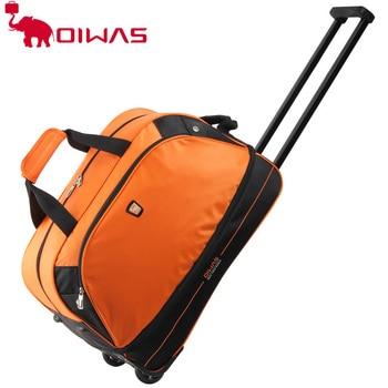 OIWAS Trolley Travel Bags 56L Waterproof Foldable Rolling Luggage Zipper Rubber Wheel OCL8001