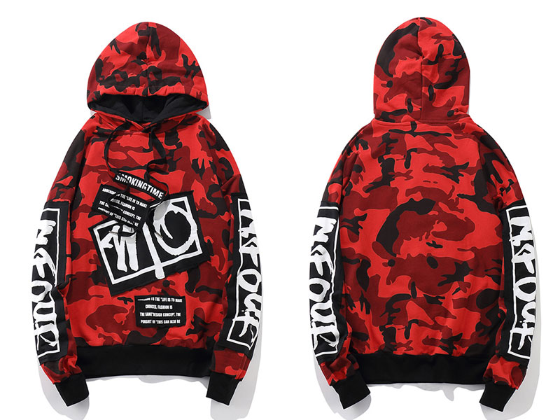 Camouflage Patch Hoodies 2