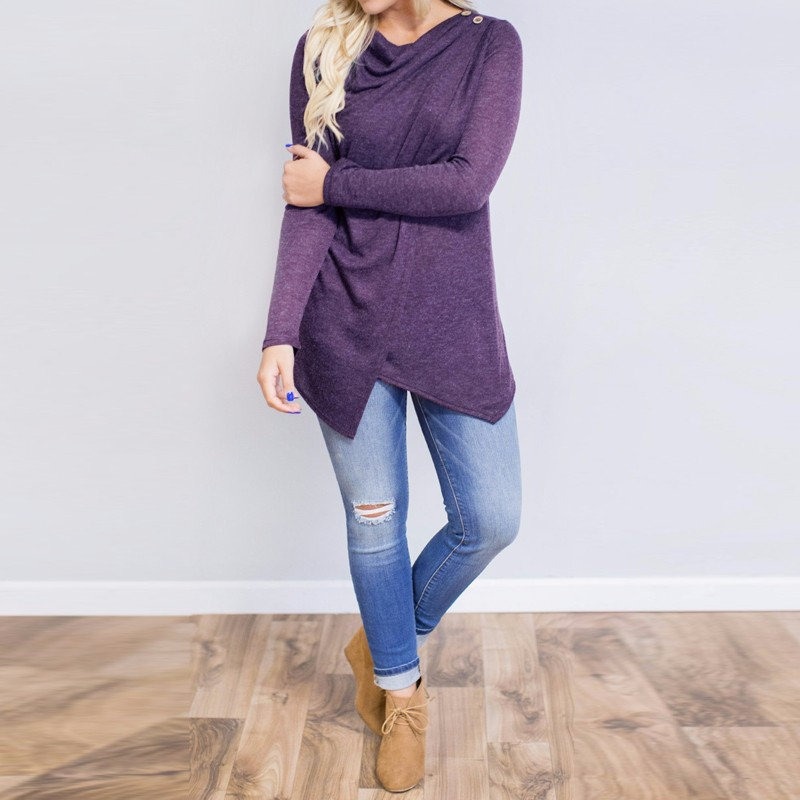 HTB1s1tsOpXXXXcNaXXXq6xXFXXXy - Women Cardigan Long Sleeve O Neck Casual Loose Blouses