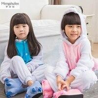 Winter Pyjamas Kids Warm Long Sleeve Cartoon Unicornio Cosplay Animal Onesie Flannel Children Sleepwear Girls Boys