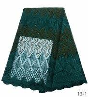 Последние темно-зеленые Африканские кружевной ткани 2019 высокое качество кружева вышивки французский нигерийские кружева с сеткой ткани, м...