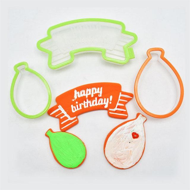 Happy Birthday Cookie Molds 3 Pcs Set