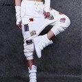 Saiqigui marca baggy dança calças, calças 2016 das mulheres harem pants, calças casual hip hop calças das mulheres, calças sweatpants hop para as meninas