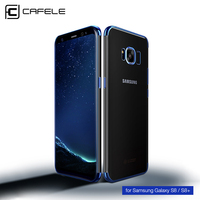 CAFELE Transparent Plating Case For Samsung Galaxy S8 Cases Ultra Thin Soft TPU Electroplate Shining Case