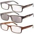 R026 Eyekepper Dobradiça Primavera Listrado Óculos de Leitura (3 Pairs) Homens Inclui Leitores Sol + 0.50 --- + 4.00