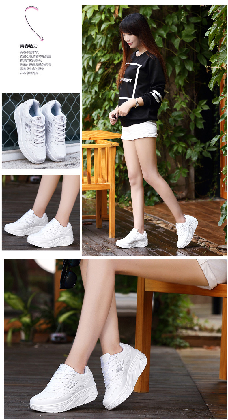 Autumn winter outdoor Girls Sneakers Platform Running Shoes for Women Sneakers Sports Shoes White Sneakers 3
