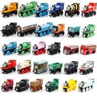 12Pcs Set Thomas Train Wooden Toys For Children Thomas And Friends Anime Railway Trains Mini Train