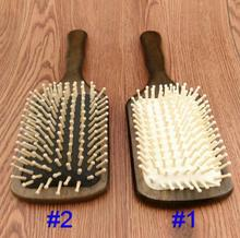 Good quality Wooden Combs Paddle Brush Wooden Hair Care Spa Massage Antistatic Comb For Women J21