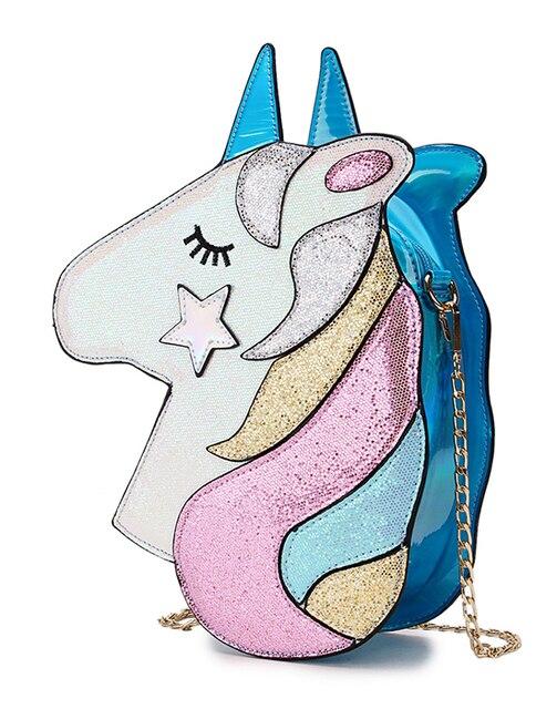 Fashion Unicorn Design Shoulder Bag Crossbody Mini Bag
