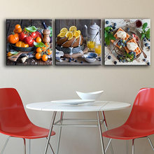 Frame Canvas Painting Poster For Living Room 3 Panel Delicious Fruit And Food Wall Art Home Decor Modern HD Printed Pictures(China)