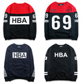 2016 New Autumn Hood By Air HBA Sweatshirts Men Women 100% Cotton Hip Hop Hoodies Harajuku Pullover Tracksuit Men HBA Sweatshirt
